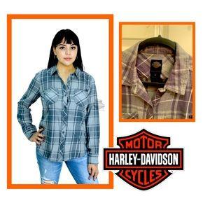 Harley-Davidson Women's Long Sleeve Plaid Shirt
